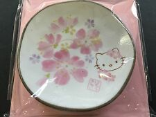 New Hello Kitty Sakura Cherry Blossoms Small Dish Plate Face MADE IN JAPAN