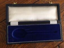 display storage gift box for christening spoon velvet lines keepsake box