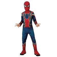 Marvel Avengers Infinity War Iron Spiderman Boys Kids Fancy Dress Costume 8-10