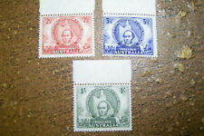 Australia 1946 #203-205 Mnh Queensland/Mitchell Issue with Selvage