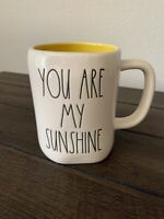 New Rae Dunn By Magenta YOU ARE MY SUNSHINE Coffee Tea Mug HTF Yellow Inside