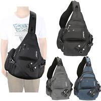 Mens Womens Laptop Large Sling Bag Backpack Chest Pack Travel Shoulder Bags