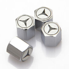 4x Universal Car Auto Tyre Valve Stems Cap Tire Dust Cover Fit For Mercedes-Benz