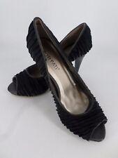 Mesdames Poti Pati Noir Peep Open Toe Cour Chaussures UK 4 EU 37 LN28 85