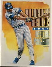 1991 Milwaukee Brewers Official Program versus Baltimore Orioles Lot of 3