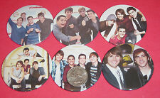 "Big Time Rush Carlos Pena  Set Of  6 LARGE 2 1/4"" Buttons Pins Party Favors"