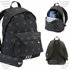 ADIDAS BLACK & SILVER MENS BOYS BACKPACK RUCKSACK SCHOOL BAG SET + FREE BAG