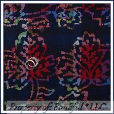 BonEful FABRIC FQ Cotton Quilt VTG Blue Canadian Maple Leaf Plaid BATIK Colorful