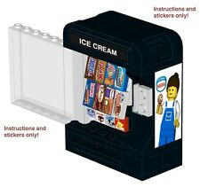 Lego Gelato Distributore Automatico 10185 10182 Istruzioni Adesivi Arcade 10243