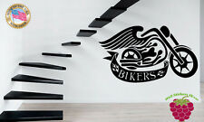 Wall Stickers Vinyl Decal  Bike Bikers Moto Cycle Motorcycle Extreme Sport  z645