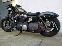 Harley Davidson Sporty Skull Black HD Forty Eight Schwingentasche Sportster 48