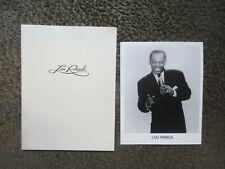 """Lou Rawls 1998 Brokaw Co. """"Seasons 4 U"""" 8 Page Press Kit W/8x10 B&W Photo+Folder"""