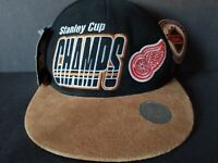 Vintage 1997 Detroit Red Wings Stanley Cup Champions Strap Back Hat New With Tag