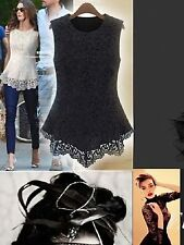 Blouse Lace Unbranded Regular Tops & Shirts for Women
