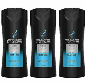 3 - AXE PHOENIX CLEAN + COOL CRUSHED MINT & ROSEMARY BODY WASH 16 Oz