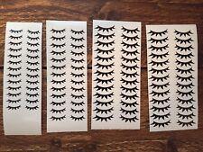 Full Set Eye lashes Unicorn Lashes Eyelashes Vinyl Decal Stickers Wall glass DIY