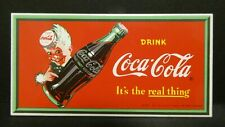 """Dollhouse Miniatures Metal Sign Advertising Coke Real COCA COLA 3 1/4"""" x 1 5/8"""""""