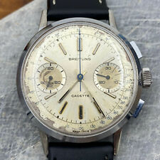 Vintage 60s Breitling Cadette Valjoux 7730 Chronograph Watch - Serviced & Adj.