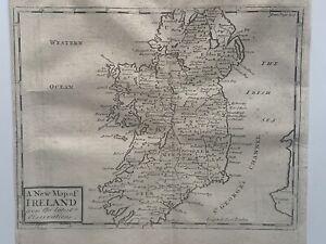 1737 Ireland Original Antique Map By John Senex 284 Years Old