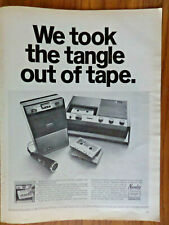 1968 Norelco Ad  Philips Norelco Introduced the Cassette Recorder