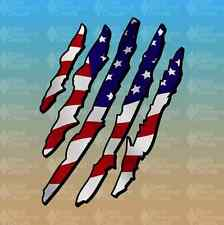 "American Flag Eagle Claw Merica America Murica 7"" Custom Vinyl Decal Sticker JDM"