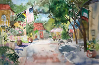 """ORIGINAL Art WATERCOLOR Painting 1995 Joan Perry (1928-2019) 22"""" X 15"""""""