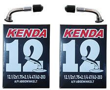 KENDA 12 Zoll Schlauch abgewinkelte Ventilen Fahrradschlauch Kinderwagenschlauch