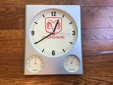 Dodge Ram Truck Wall Clock Humidity Gauge Temperature Thermometer Garage Sign