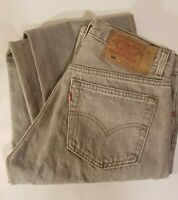 Vintage LEVIS 501 XX Jeans MADE IN USA 31 X 36 Grey Stained Distressed