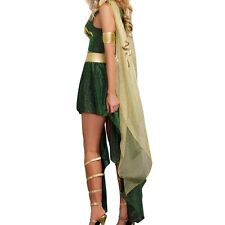 Medusa Women's Evil Goddess Serpent Costume Green Greek Mythology XL