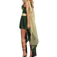 Medusa Women's Evil Goddess Serpent Costume Green Greek Mythology XL