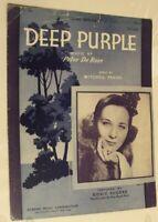 Vintage Deep Purple Sheet Music 1939 Doris Rhodes