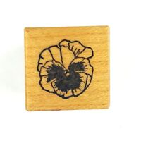 Vintage 80s PSX Pansy Flower Rubber Stamp Wood Mounted A-975 Floral Botanical
