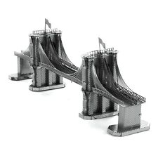 Fascinations Metal Earth 3D Laser Cut Steel Model Kit New York Brooklyn Bridge