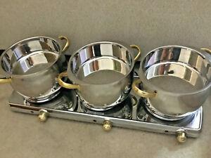 Cuisine Cookware Command Performance MK-367 Triple Burner Buffet Range w/ 3 Pots