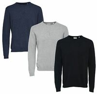 ONLY & SONS New Men's Work Knit Regular Fit Cotton Jumper Crew Neck Sweater