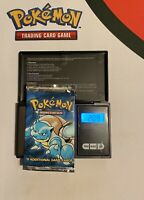 Base Set Factory Sealed Pokemon Booster Pack Blastoise Artwork Weighed