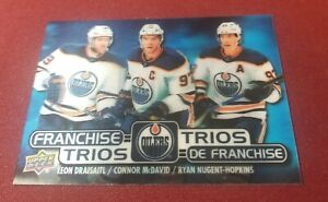 2020-21 UD Tim Horton's Franchise Trios DRAISAITL/McDAVID/NUGENT-HOPKINS Oilers