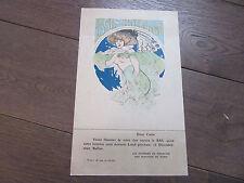 INVITATION ORIGINALE BAL DE L'INTERNAT 1905 ART NOUVEAU