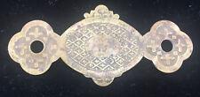 Antique Brass Escutcheon Plate Key Hole Cover Ornamentation Architectural Ornate