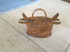 Nice Old Norwegian carved tine bOX
