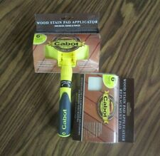 """New Cabot 6 Inch Adjustable Wood Stain Pad Applicator And One 6"""" Replacement Pad"""