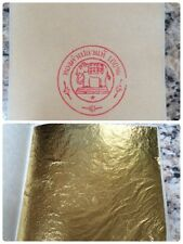 PURE 24K GOLD LEAF SHEET BOOK OF 10, EDIBLE, CRAFT, FOOD DECORATING 8x8 cm