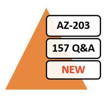 UPDATED AZ-203 Exam 157 Q&A PDF ONLY!