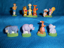 WINNIE the POOH #4 Set 10 Figurines French Porcelain FEVES MATTE Figures DISNEY