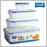 KLIP SEAL Plastic Food Storage Containers Box Set Clip & Lock Airtight Fresh