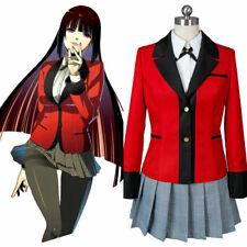 HOT Cosplay Anime Kakegurui Yumeko Jabami Costumes School Girls Uniform Full Set