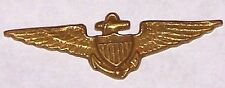 """WWI US NAVY Brass Flyers Wings 1 1/2"""" wide by 1/2"""" high Diestruck each R7834"""