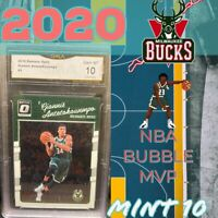 2016-17 Donruss Optic Holo #5 Giannis Antetokounmpo Bucks PSA 10 GEM MINT
