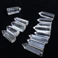 Natural Beautiful White Double pointend  QUARTZ Crystal Point Specimen 30g+ 5pcs